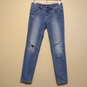 Loft distressed jeans size 8